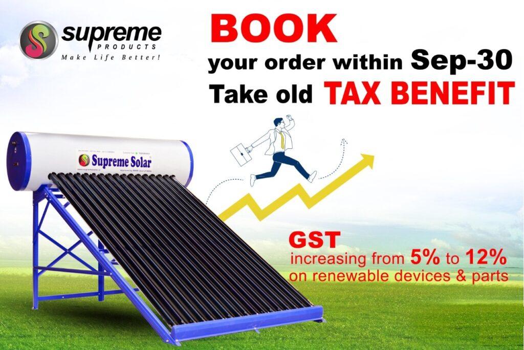 Supreme Solar Water Heater